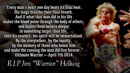 The Ultimate Warriors Speech from Monday Night Raw